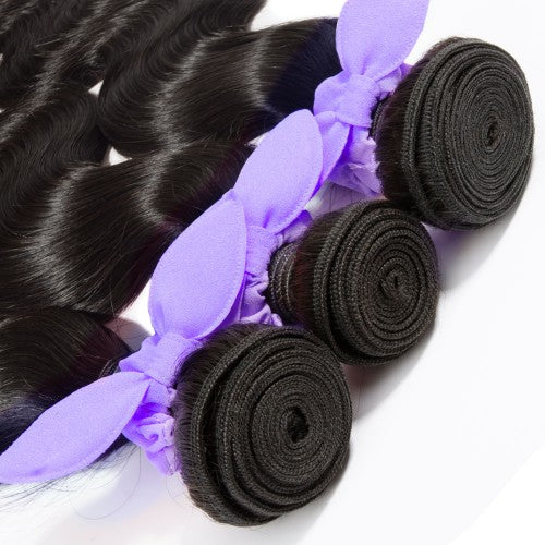 【Platinum 8A】3 Bundles Body Wavy 8A Malaysian Virgin Hair 300g With 13*4 Free Part Lace Frontal