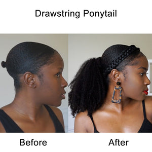 Drawstring Ponytail Kinky Curly Hair Extension