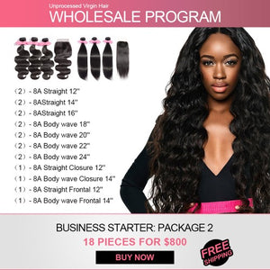 Start Hair Business for $800 Wholesale Package 2