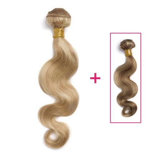 Buy 1 Get 1 Free Body Wavy Brazilian Remy Hair #27/613