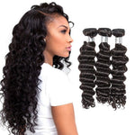 【Platinum 8A】	3 Bundles Loose Deep Wavy Brazilian Virgin Hair