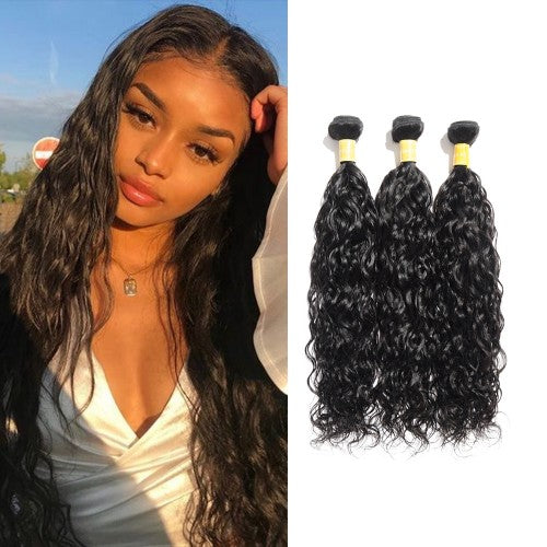 【Platinum 8A】	Virgin Indian Natural Wavy Hair 3 Bundles
