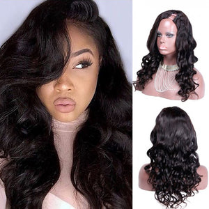 22 Inch #1B Body Wavy Indian Remy Hair U part Wigs PWU14