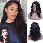 24 Inch #1B Body Wavy Indian Remy Hair U part Wigs PWU22
