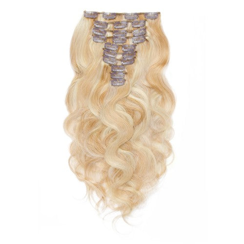 [Super Deluxe] 200g 22 Inch #27/613 Body Wavy Clip In Hair