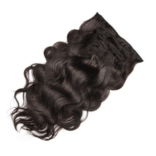 【Deluxe】	160g 20 Inch #2 Darkest Brown Body Wavy Clip In Hair