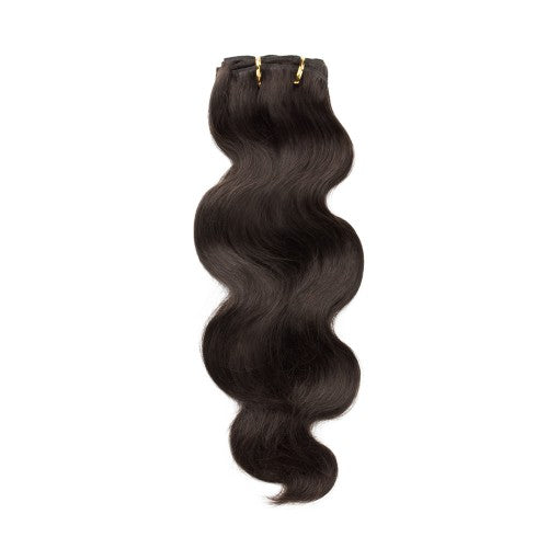 【Regular】	100g 18 Inch #2 Darkest Brown Body Wavy Clip In Hair