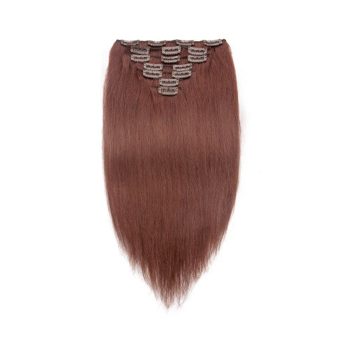 [Regular] 100g 18 Inch #33 Rich Copper Red Straight Clip In Hair