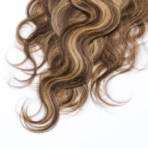 【Super Deluxe】	200g 22 Inch #4/27 Body Wavy Clip In Hair