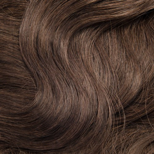 【Regular】	120g 18 Inch #4 Chocolate Brown Body Wavy Clip In Hair