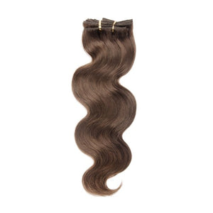 [Regular] 120g 18 Inch #4 Chocolate Brown Body Wavy Clip In Hair