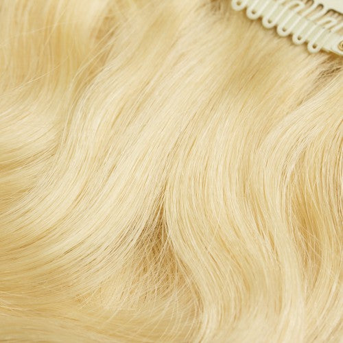 【Super Deluxe】	200g 22 Inch #613 Lightest Blonde Body Wavy Clip In Hair