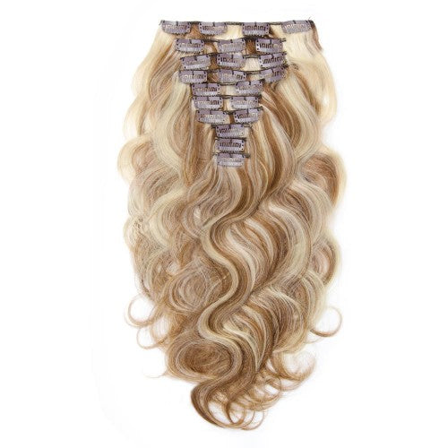 【Super Deluxe】	200g 22 Inch #8/613 Body Wavy Clip In Hair