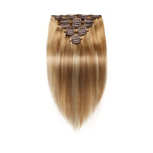 [Regular] 100g 18 Inch #8/613 Straight Clip In Hair