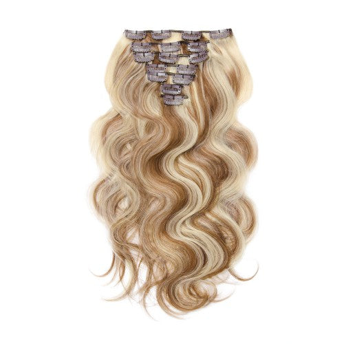 【Regular】	120g 18 Inch #8/613 Body Wavy Clip In Hair
