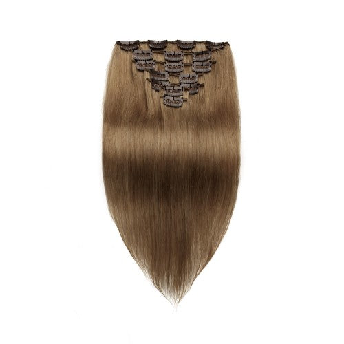 [Regular] 100g 18 Inch #8 Light Brown Straight Clip In Hair