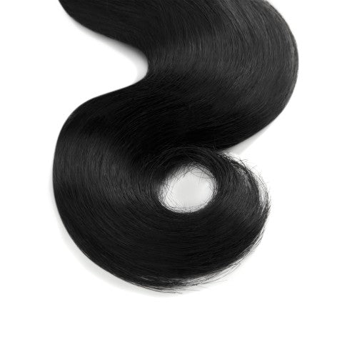 100g Body Wavy Indian Remy Hair #1 Jet Black