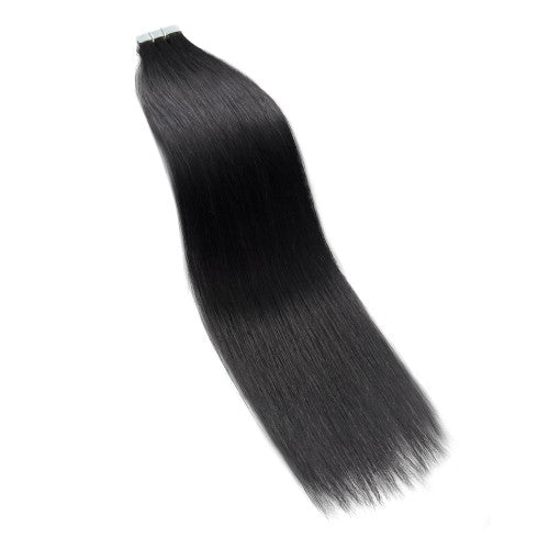 20pcs 50g Straight Tape In Hair Extensions #1 Jet Black