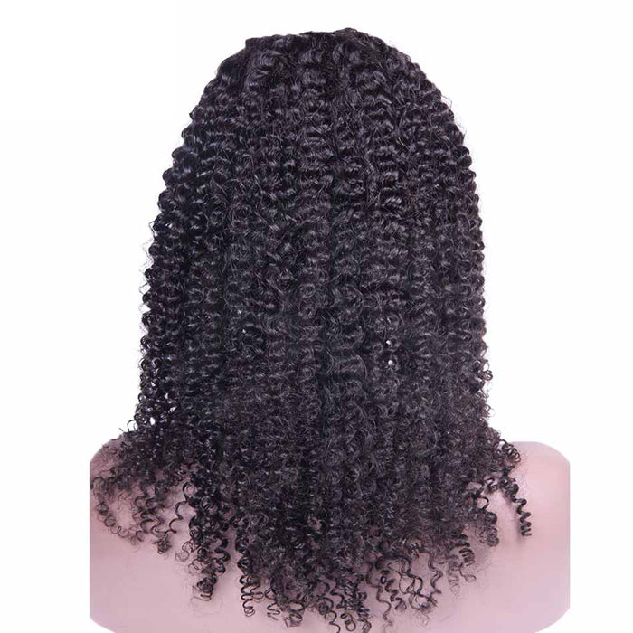 22 Inch #1B Kinky Curly Indian Remy Hair U part Wigs PWU09