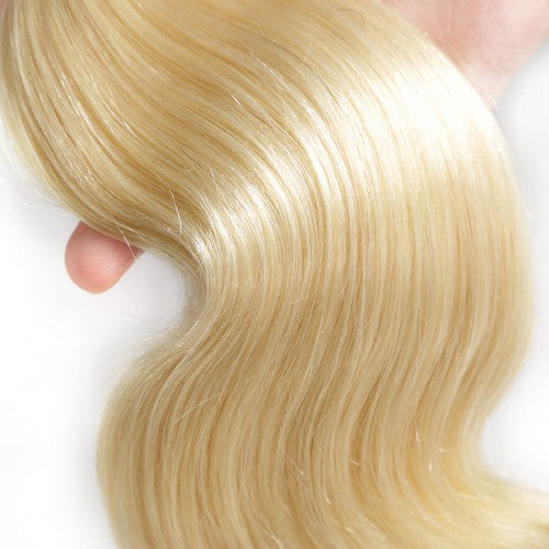 "【Platinum 8A】	14""-26"" 3 Bundles Body Wave #613 blonde Virgin Brazilian Hair 300g"