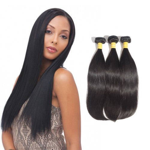 【Platinum 8A】	Virgin Indian Straight Hair 3 Bundles