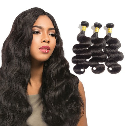 【Platinum 8A】	Virgin Indian Body Wavy Hair 3 Bundles