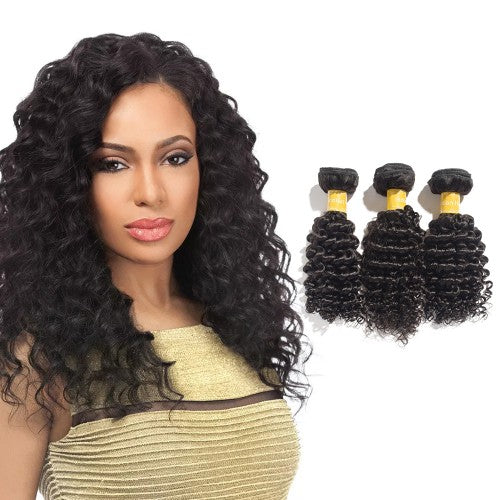 【Platinum 8A】	Virgin Indian Deep Curly Hair 3 Bundles