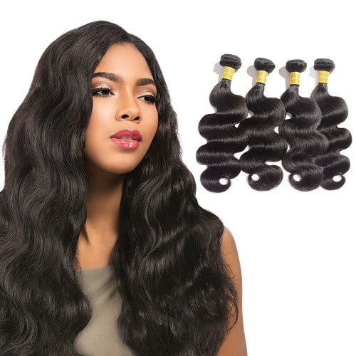 【Platinum 8A】 Virgin Indian Hair Body Wavy 4 Bundles