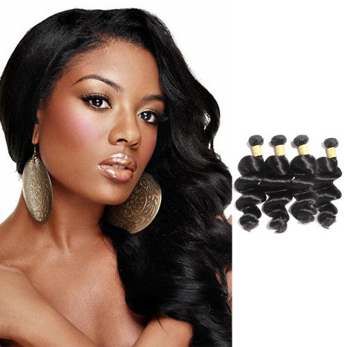 【Platinum 8A】Virgin Indian Hair Loose Wavy 4 Bundles
