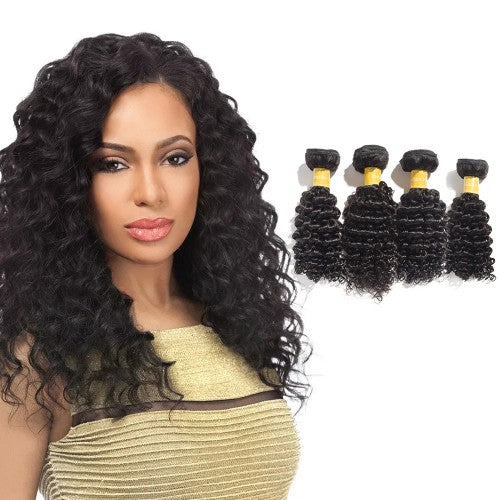【Platinum 8A】Virgin Indian Hair Deep Curly 4 Bundles