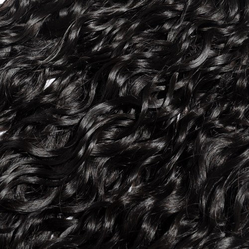 【Platinum 8A】Virgin Natural Wavy Indian Hair 3 Bundles with 4x4 Lace Closure