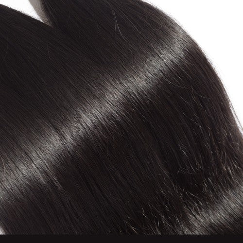 "【Platinum 8A】	10""-30"" 3 Bundles Straight Virgin Brazilian Hair Natural Black 300g"