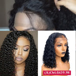"Virgin Hair 250% & Transparents Lace Wig 2-IN-1 (A)18""+(B)16"" With Free Gift"