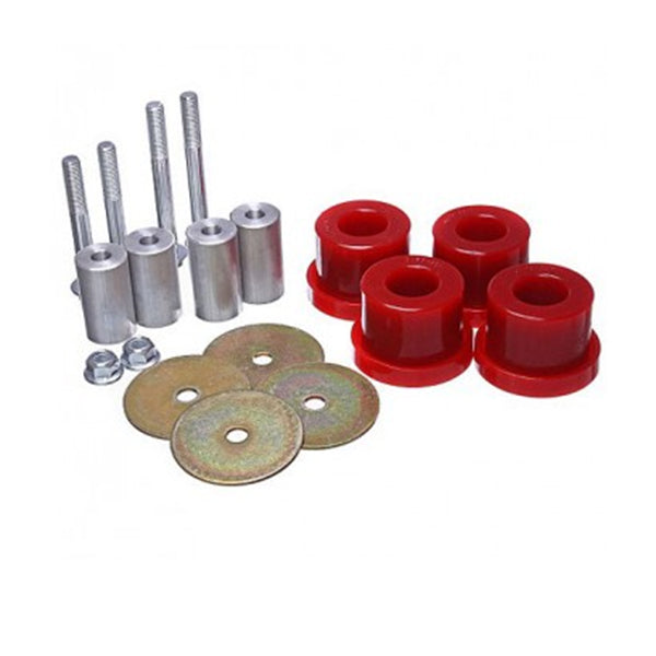 UPR 15-18 Mustang IRS Differential Mount Bushings Red Energy