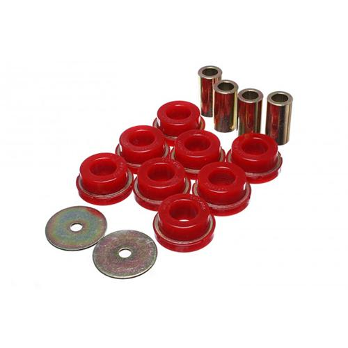UPR 15-18 Mustang IRS Subframe Bushings Red Energy