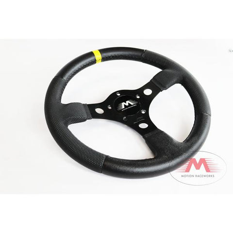 Grant Race GT Steering Wheel w/ Yellow Stripe