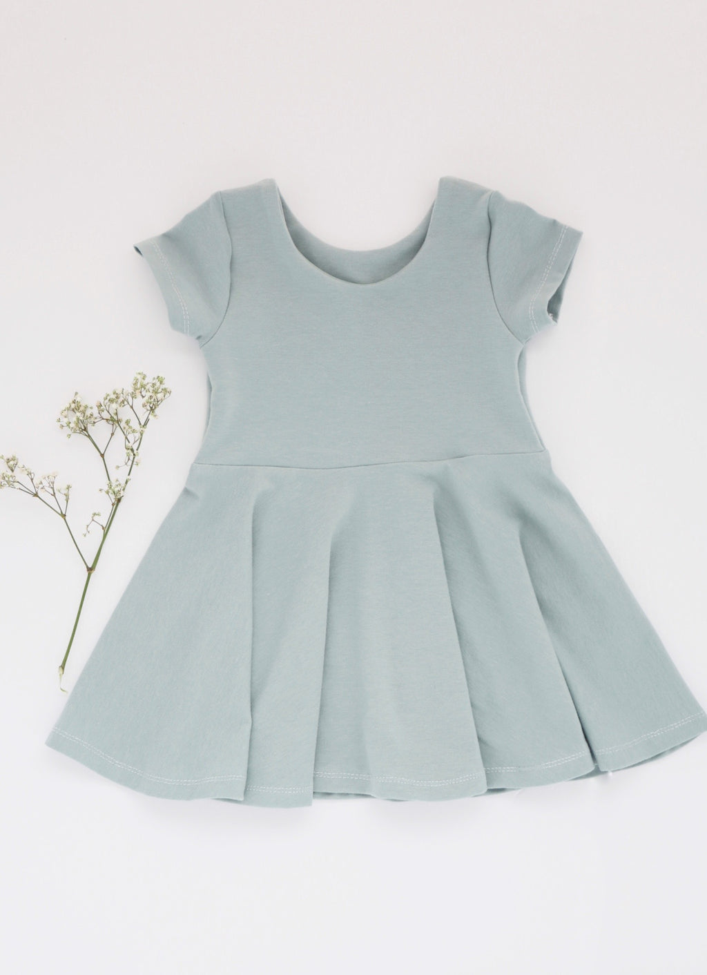 Seafoam Peplum Dress