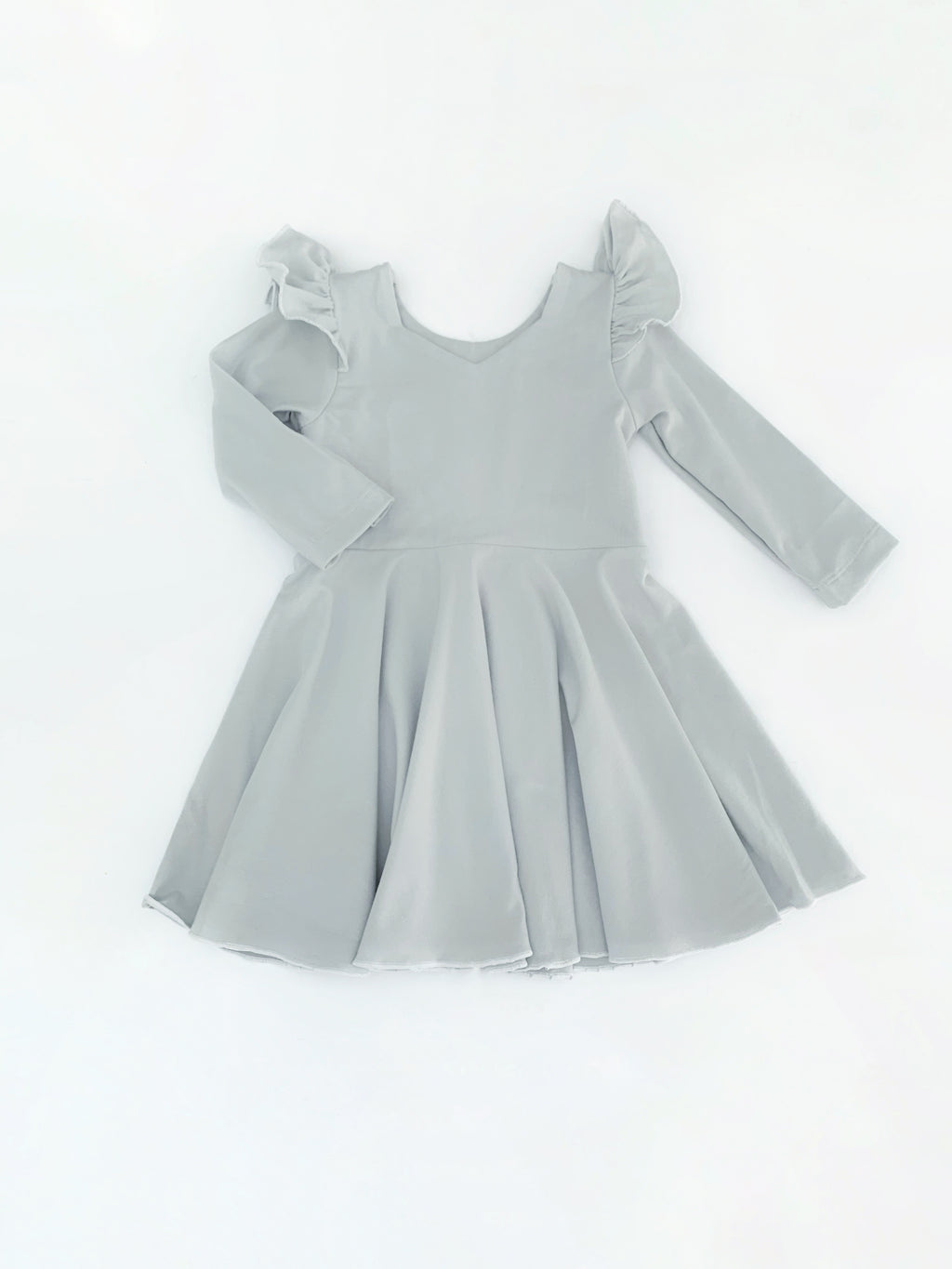 Grey Peplum Dress