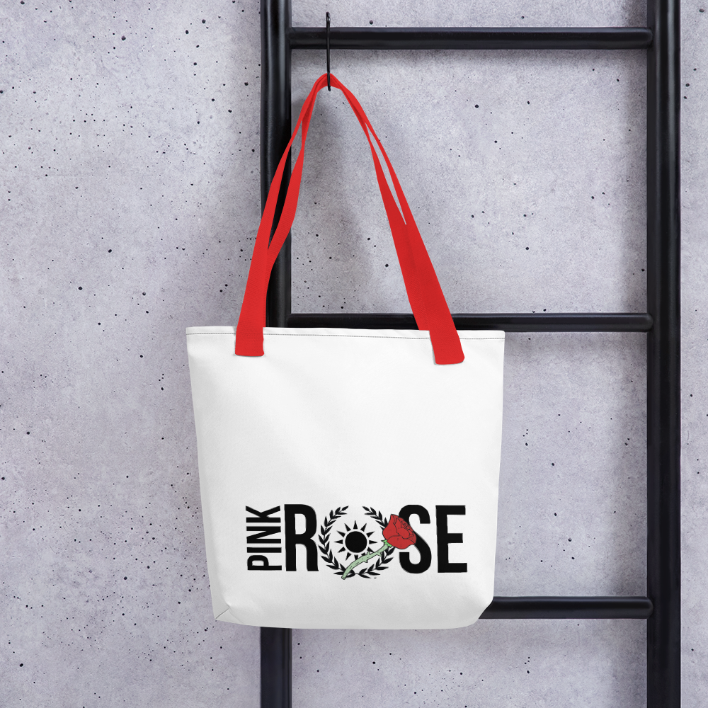 Classic Pink Rose Tote
