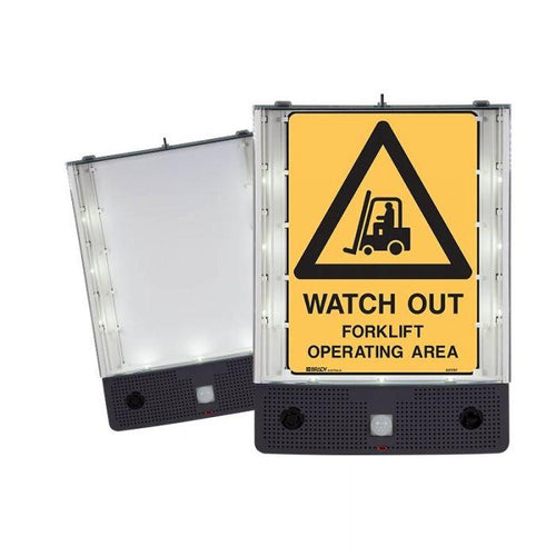 Safety Sign Alerter - Watch Out Forklift Operating Area