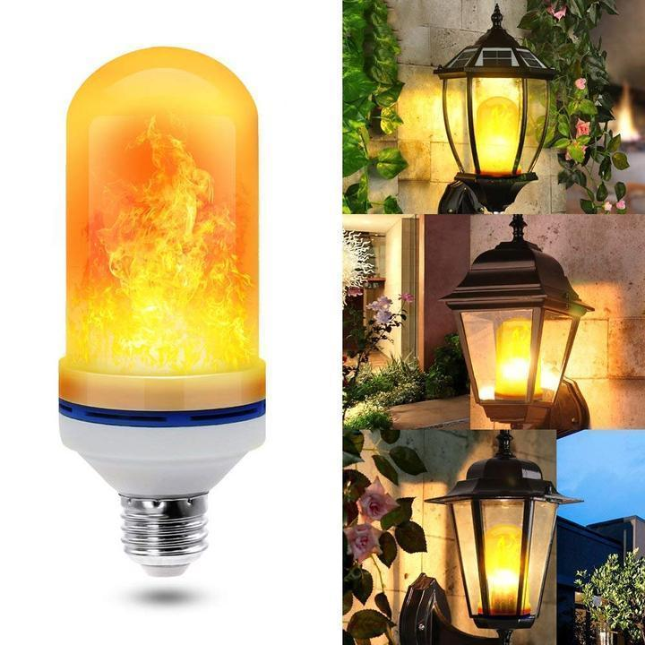 (80% OFF!) Gravity sensing LED flame flashing bulb