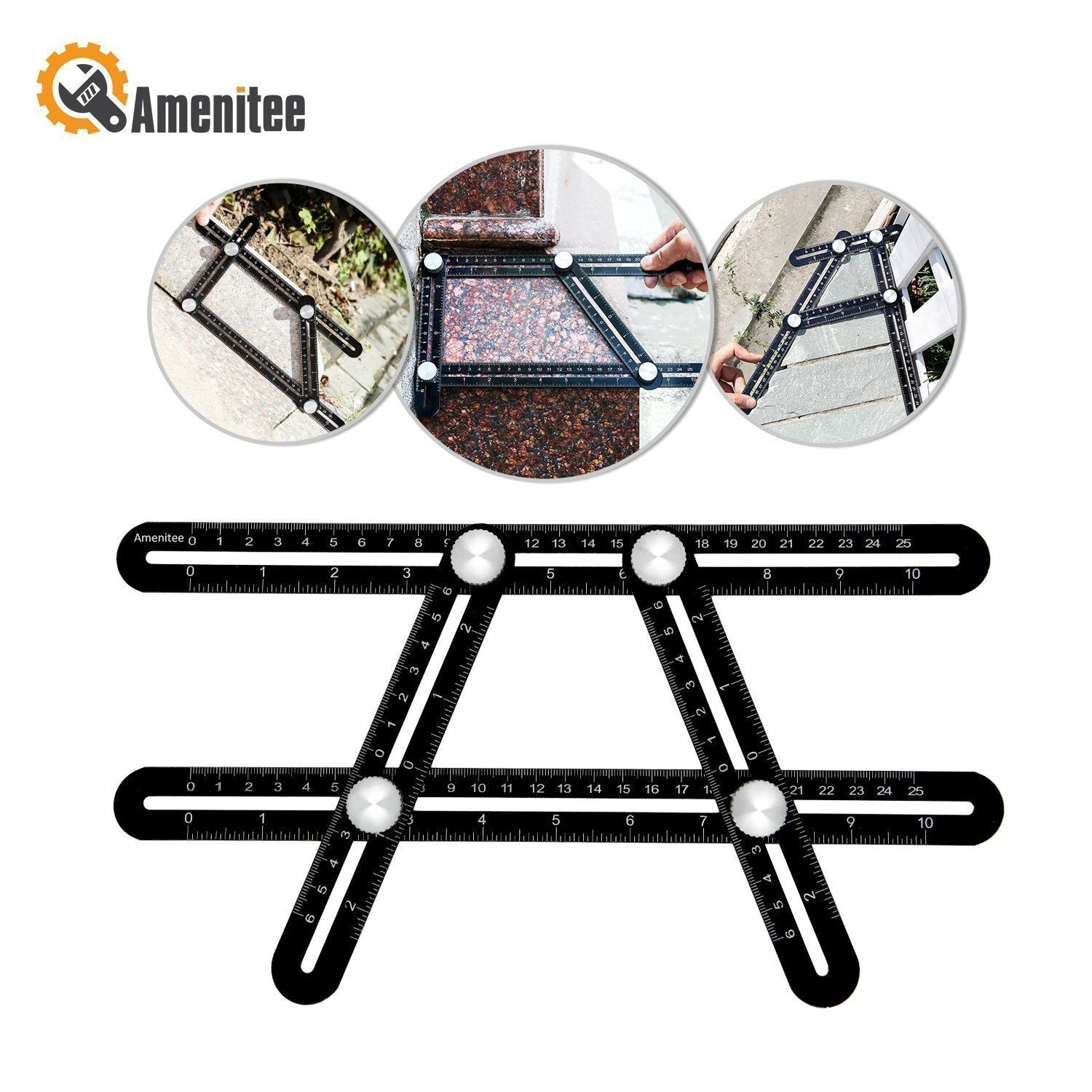 Amenitee Universal Angularizer Ruler--Multi Angle Measuring Tool - mygeniusgift