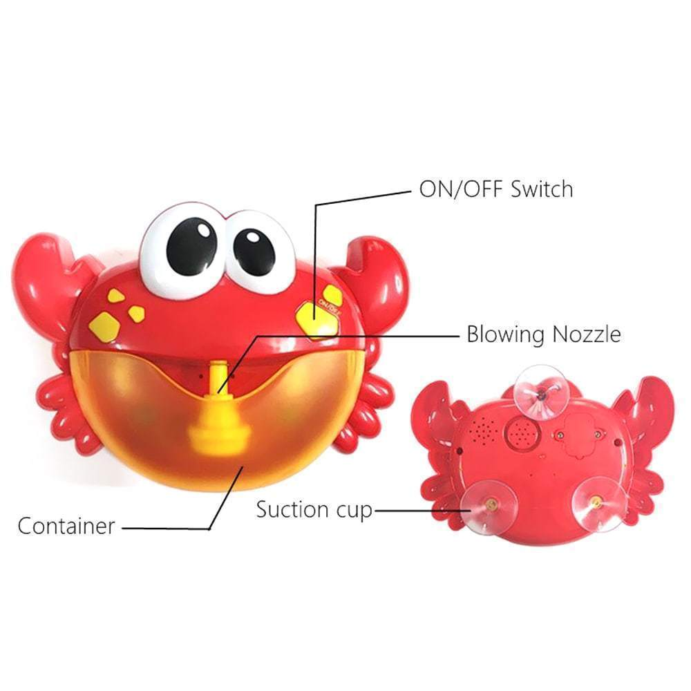 1 X BUBBLE CRAB BATH TOY