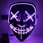 Best Seller - Spooky LED Mask/Purple/White