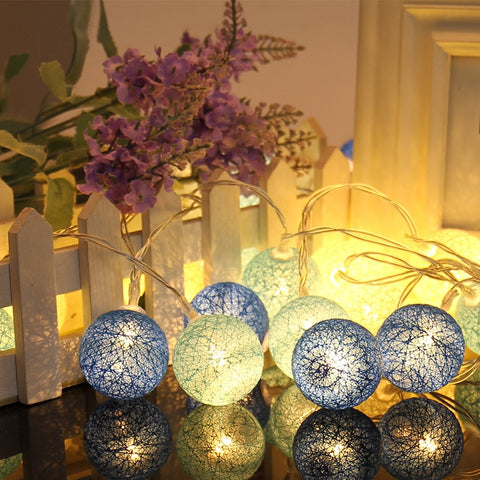 10 Globes LED Cotton Christmas Ball Light