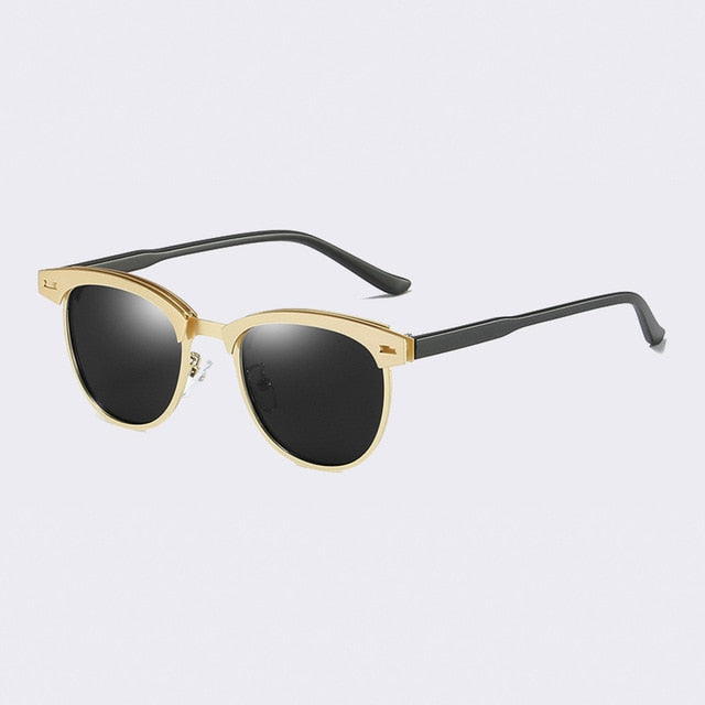 Semi-Rimless UV-400 Polarized Sunglasses for Women