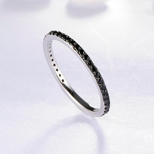 Ladies Gem Stone Stackable Ring in 925 Sterling Silver