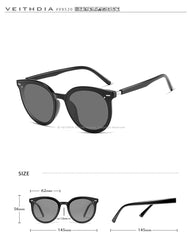 Photochromic Polarized Mirror Lens Sunglasses