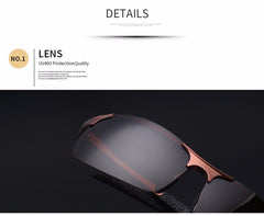 High Quality Ultra-light Aluminum Magnesium UV-400 Polarized Sports Sunglasses