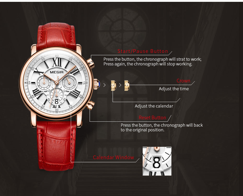 Multi Function Chronograph Women's Dress Watch